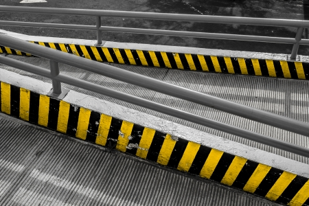 Commercial shop ramp in black and white and yellow