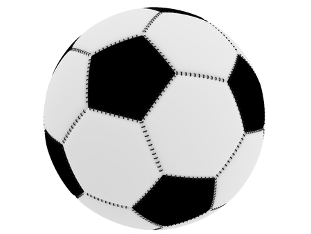 Soccer Ball with black and white details  photo