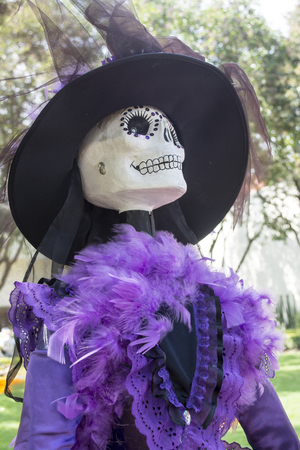 honors: The day of the dead is a mexican celebration that honors the ancestors during the November 2, coinciding with the catholic celebration of the day of the faithful departed. Stock Photo