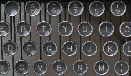 Old fashioned manual typewriter keys