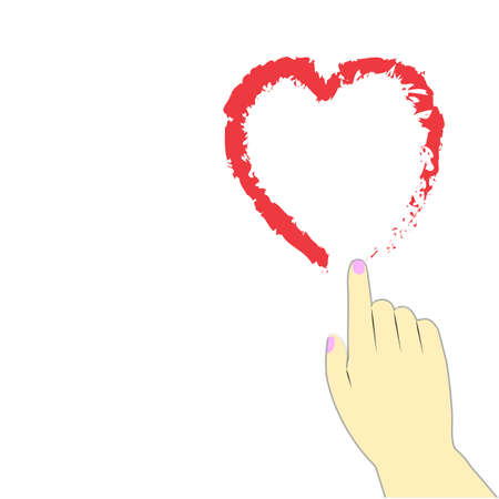 hand drawing heart shape.