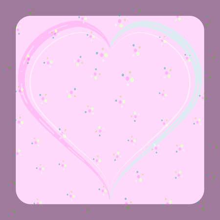 Heart shape pink color concept valentine background. Ilustrace