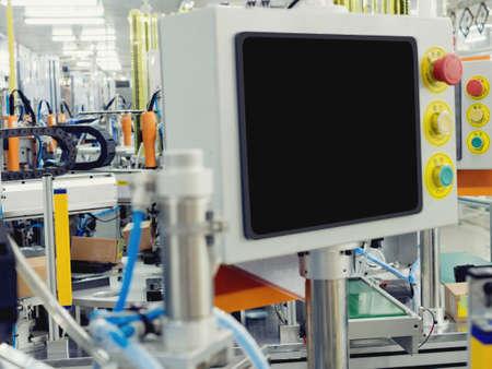 Control panel of auto robot machine.