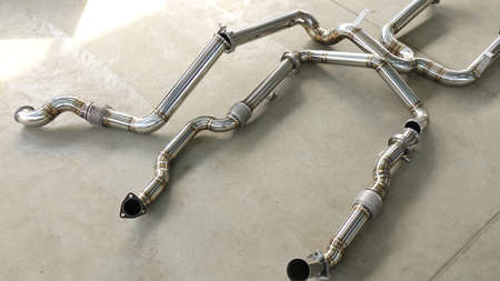 Exhaust pipes, exhaust system for a car