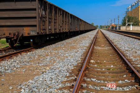 railroad tracks: Railroad tracks.
