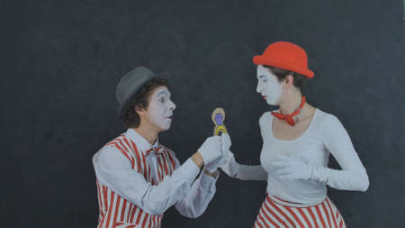 Young Mime makes a marriage proposal