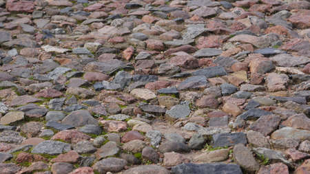 Road from natural stone Stock Photo