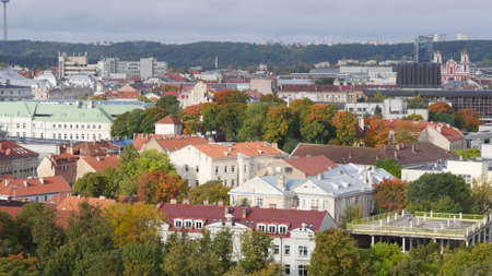 The town of Vilnius from a height