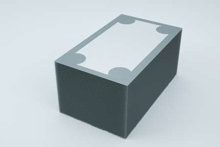 3d box from a phone, gift, other accessories or goods. Empty or filled closed gray box on a white isolated background. Close-up