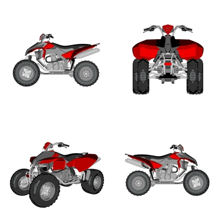 cartoon quadbike