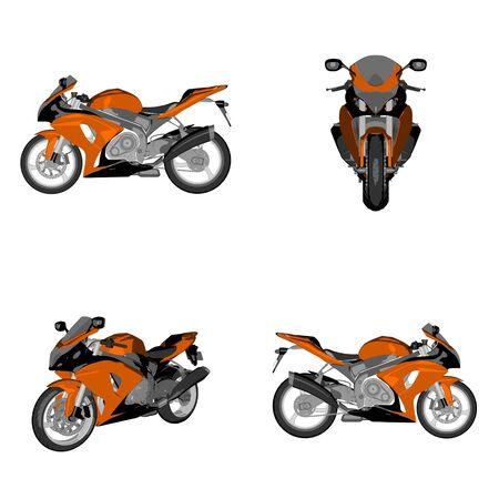 cartoon sportsbike