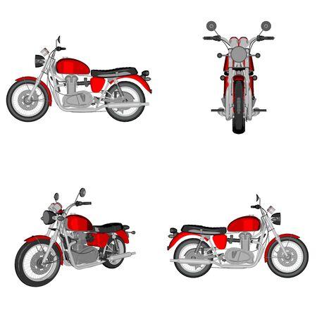 speedster: cartoon motorcycle