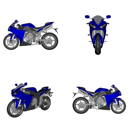 cartoon sportsbike Stock Photo - 62063858