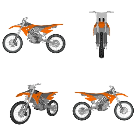 cartoon dirtbike