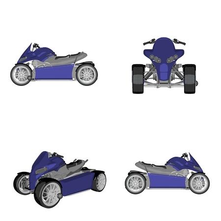 speedster: cartoon quadbike