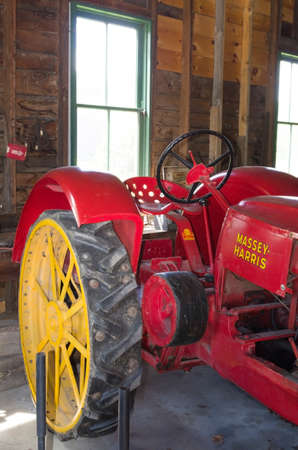CUMBERLAND HERITAGE VILLAGE MUSEUM,CUMBERLAND,ONTARIO CANADA JUNE 2,2017: This 1920-1930's era village has replica buildings as well as equipment and facilities typical of the period.