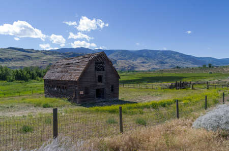 Beginning in about 1865 John Carmichael Haynes began to aquire large amounts of ranchland in the Osoyoos and Oliver area. It was one of the first cattle rtanches in the Okanagan vally and he eventully amassed about 22,00 acres. He and his partner Haynes a Stock Photo