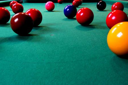 Snooker balls Imagens