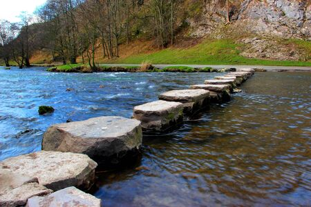 river bank: Stepping stones