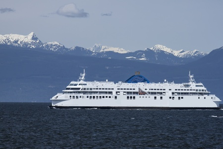 vancouver island: Ferry in open water Vancouver Canada