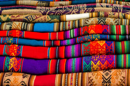 Textiles on a market in South America