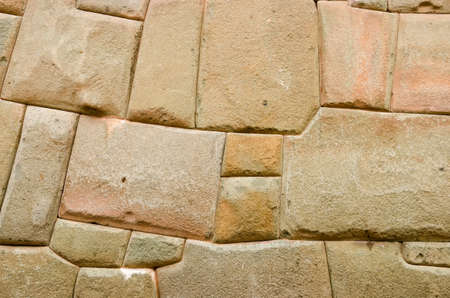 interstice: Wall from the Inca era Stock Photo