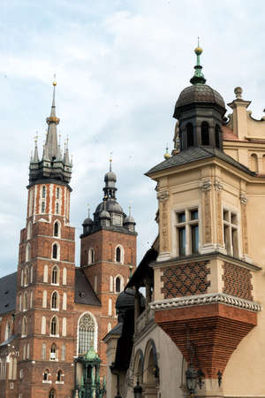 cloth halls: Cloth halls and church of our lady in Krakow