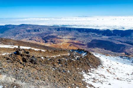 vulcano: On top of Teide, Tenerife Stock Photo