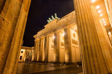 iron curtains: Brandenburg Gate
