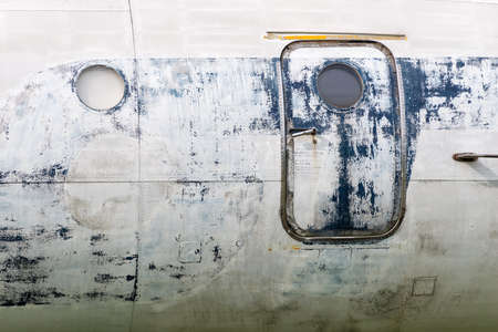 aluminum airplane: Tupolev TU-134 Stock Photo