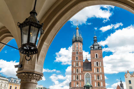 our: Church of Our Lady in Krakow Stock Photo