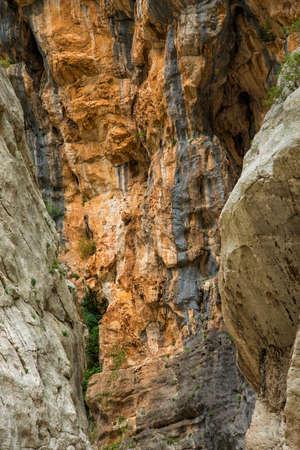 dangerously: Canyon of Gorropu Stock Photo