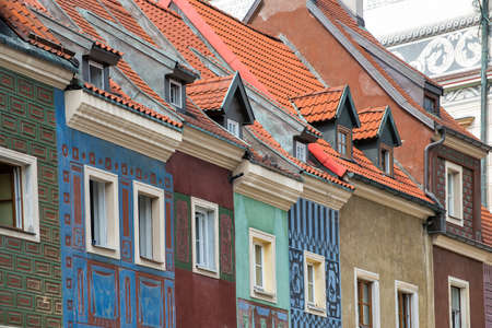 retrofit: Old town of Poznan Stock Photo