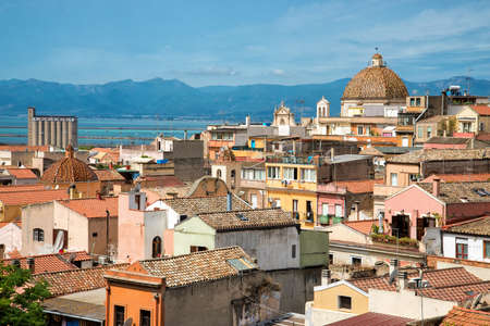 Old town of Cagliari Stock Photo