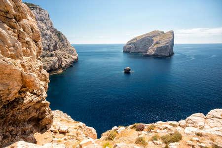 sea cliff: Coast of Sardinia Stock Photo