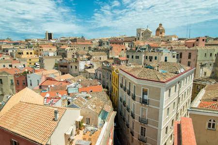 Old town of Cagliari Stock Photo