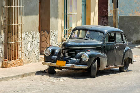 vintage car in Cuba Editorial