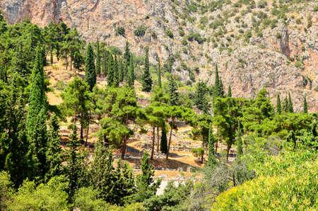 delphi: ruins of Delphi Stock Photo