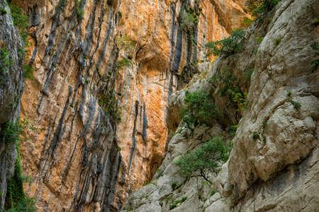 abrupt: Canyon of Gorropu Stock Photo