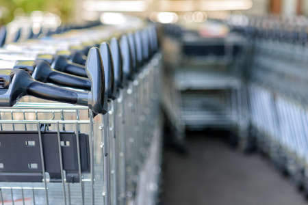 retailing: trolleys Stock Photo