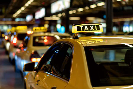 Taxis Stockfoto