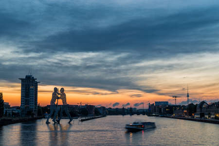 Treptow harbor in Berlin