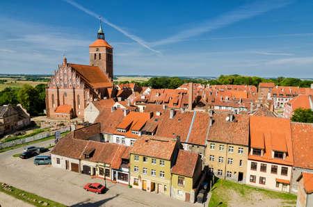 old town of Reszel in Masuria, Poland
