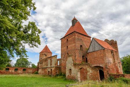 ruin of a castle in Poland Stock Photo