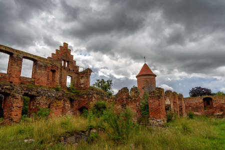 ruin of a castle in Poland Stock Photo