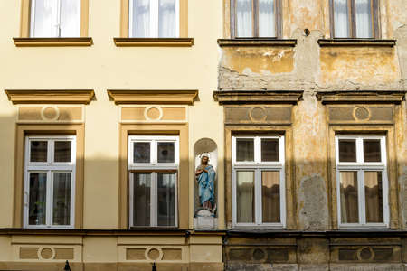 front of a building in Krakow