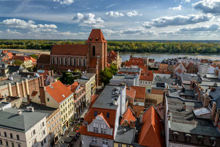 old town of Torun in Poland Stock Photo