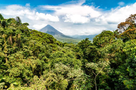 Volcano of Arenal in Costa Rica close to La Fortuna