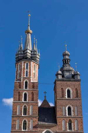 church of Mariacki on the main square in Krakow, Poland