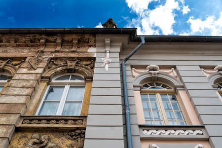front of building in Germany with old and reconstructed part 版權商用圖片